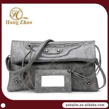 Pahajim retro and soft leather clutch bag
