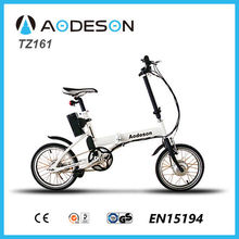 cheap and nice mini 16'' aluminium alloy folding electric bike Aodeson ebike TZ161