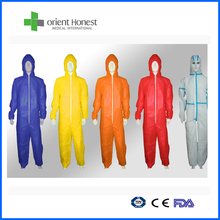 High Quality Long Sleeve Disposable Coverall For Food Factory and Hospital