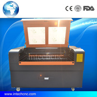 China popular!!! laser printing on glass Intechcnc of 1490 machine for Acrylic,Leather, plastic,MDF