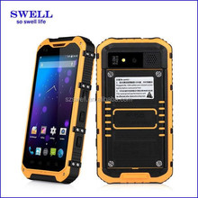 2015 PTT Walkie Talkie IP68 dual sim gsm cheap mobile phone / 2 card / battery sell rugged nfc android smartphone a9