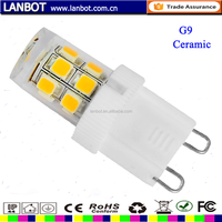 High Brightness LED CERAMIC G9 1.5w 3w 3.5w 4w 4.5w 5w led G9 ,lampadine led g9