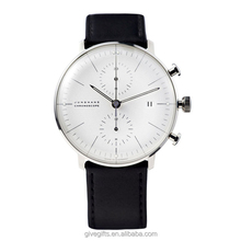 2015 Hot selling genuine leather strap junghans style wrist watch