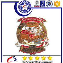 Custom brass enamel badge with profound significance