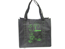 Fashion custom made shopping tote promotional oem production recyclable laminated non woven bag