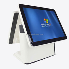 Ak-915td doble pantalla táctil POS venta al por menor sistema de All in One Terminal POS
