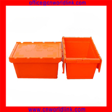 2015 Hot Sale Moving Company Use With Lid Plastic Tote Box