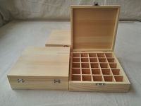 trade assurance manufacture for wooden essential oil box with 25 compartments