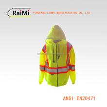 riflettenti di sicurezza giacca felpa con cappuccio