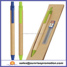 2015 High quality cheap promotion new eco recycled paper ball pen