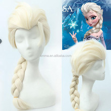 2015 Fashion famous frozen elsa wigs high quality afro cosplay adult elsa wigs W8007