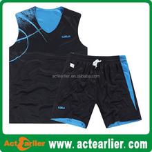 cheap custom mesh reversible black blue red yellow basketball jerseys
