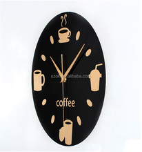 modern style high grade acrylic wall clock for coffice store
