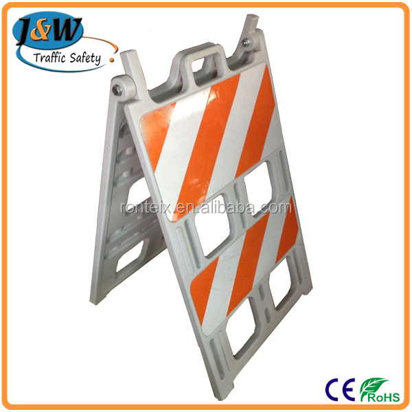 Blowing Mould Yellow&black A Frame Plastic Road Safety Barrier For ...