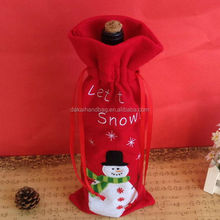 Promotional red velvet christmas gift bag, costco christmas gifts, handicraft importers in uk