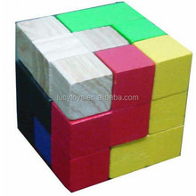 hot wholesale high quality Colorful Instant Insanity wooden puzzle cube