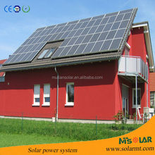 2015 Aluminum pile ground solar mounting system grid tie 10kw solar panel system