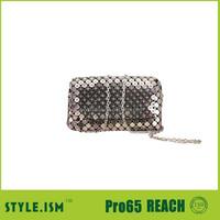 Designer crystal hand metal clutch bag,party bag,bling cosmetic bag