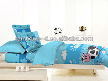 milk cow print cotton comforter set for child /quilt set bed sheet
