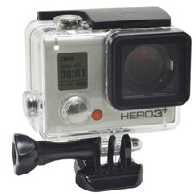 Wholesale 30M gopros waterproof case housing for GoPro Heros 4/3+, with bracket Perfectly fits Hero4 Silver with LCD Screen