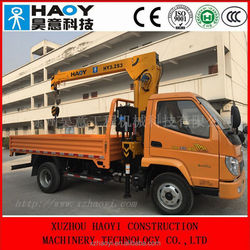 mini truck crane, truck mounted crane with remote control