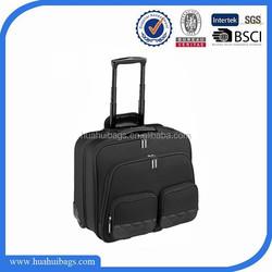 High quality black best laptop trolley bag for men
