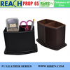 PU leather office leather pen holder pen container