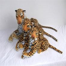 custom lifelike stuffed animal leopard plush toys with EN71 ISO9001 standards