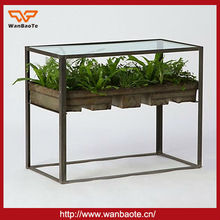 2014 new product wrought iron vegetable and flower shelf garden planter