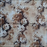 Brown floral for home textile sofa cover decorative fabric