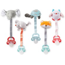 Plush Soothing Baby Toy Animal Pacifier Chain/Stuffed Animal Toy and Silicon Pacifier Chain/Stuffed Toy 20cm Length for Babies