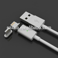 Top Quality IOS Smart Magnetic Cable Fast Charger USB Data Line for iPhone 5 6 6S Plus For iPad Air &Mini