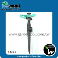 360 Degree Plastic Sprinkler With One-Way Plastic Spike