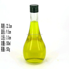 500ml bowling shaped glass bottle for oilve oil