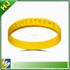 promotional debossed wristband customize silicone bracelet