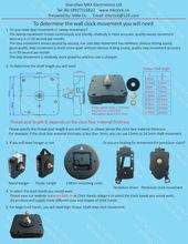 supply different quartz clock movement for wall clocks or other analog quartz clock application