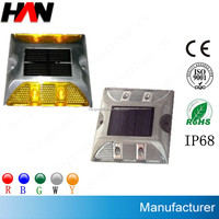 Hot sell IP68 LED Aluminum Solar Road White Stud light Reflective