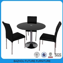 Cheap round glass dining table set for sale