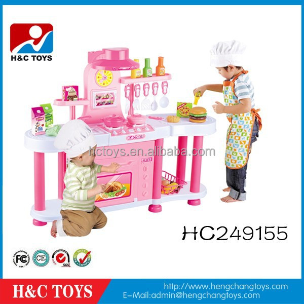 2015 new products kids large kitchen set toy with light for Kitchen set video song