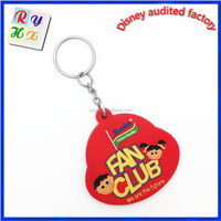 Custom design 3d silicon keychain, carabiner keychain, reflection keychain