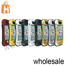 For iPhone 4 4S Hybrid Case, Hybrid Case for iPhone 4/4S, Bumper Metal Case Hard Case for iPhone 4 4S