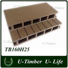 Zhejiang hot sale outdoor plastic timber decking for balcony