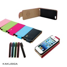 Kaku flip leather luxury design genuine leather phone case for iphone 6 case