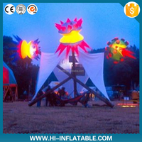 2015 Hot Sale! customized 210T polyester cloth inflatable event lighting with led lighting