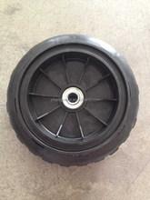 10 inch foam filled wheel, pu foam rubber wheels 3.00-4