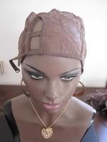 3 style brown color adjustable u part wig cap for wig making