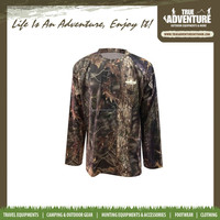 True Adventure TA1-002A 100% polyester Long Sleeve Fishing Camo Breathable wholesale Camo T Shirts