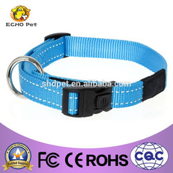Unisex blue reflective dog collar, nylon dog product