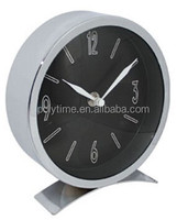 small quartz metalic table clock with CE&Rosh approval