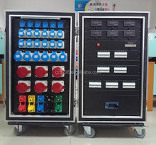 400a camlock power electrical control box with meters